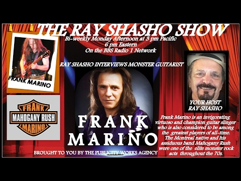 RARE INTERVIEW W/FRANK MARINO(MAHOGANY RUSH) ON THE RAY SHASHO SHOW