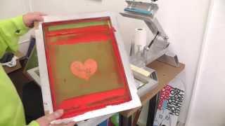 Siebdruck - Siebreinigung von SDLPRO Siebdruckfarbe