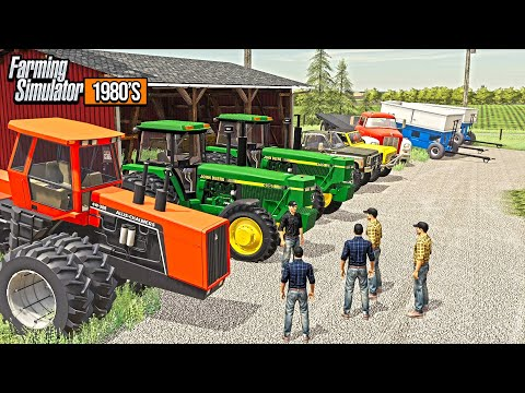 AUCTION DAY! LOCAL FARMERS HAVE A RETIREMENT AUCTION (WITH REAL AUCTIONEER) | FARM SIM 1980'S