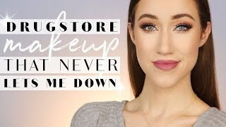 Full Face of THE MOST RELIABLE DRUGSTORE Makeup ALLIE GLINES