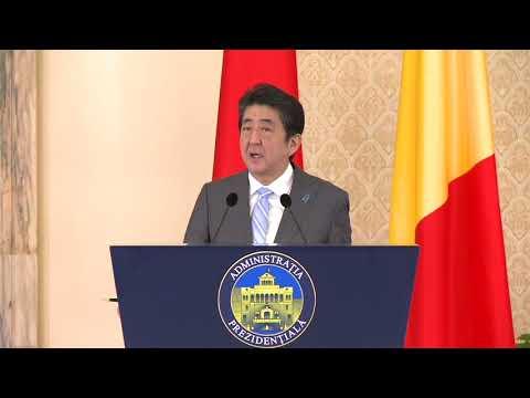 STIRIPESURSE.RO Declarația de presă comună a lui Klaus Iohannis cu premierul Japoniei, Shinzo Abe