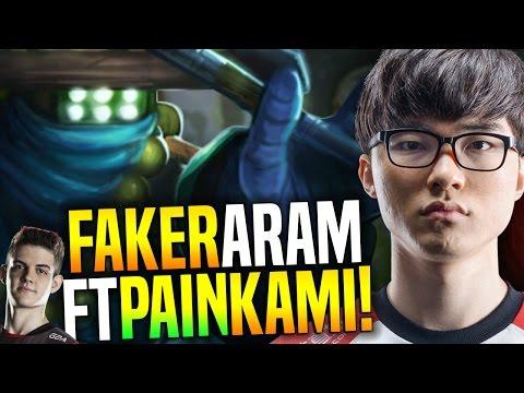 FAKER Has Fun Playing ARAM ft  Kami, Huni, Bang, Wolf & Brazil Famous Streamers! | SKT T1 Replays