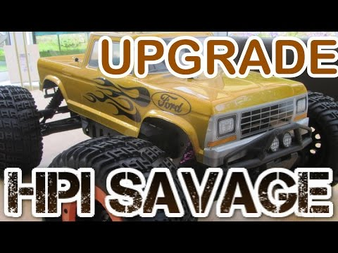 HPI Savage Integy HD Rear Hub Carriers | UPGRADE & INSTALLATION (Savage XL Flux Level 1 Upgrade)
