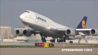 Lufthansa Boeing 747-8 Intercontinental [D-ABYF] CLOSE UP Takeoff to Frankfurt