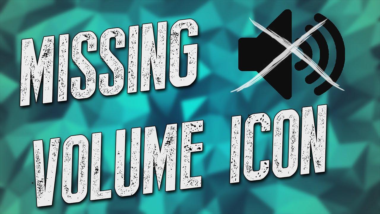 Restore Volume Icon On Bar : Fix missing volume icon windows vista youtube