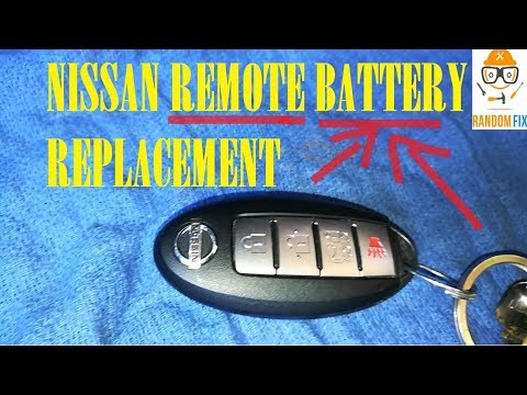 How To Replace Nissan Key Fob Remote Battery 2017 Intelligent I Keys