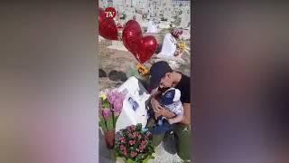 LApide, neonato sulla tomba del suo papà