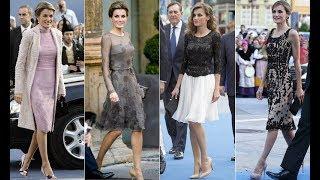 Del 2004 al 2016, todos los 'looks' de la Reina sobre la alfombra azul de Oviedo