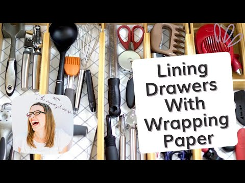 Lining Drawers and Cabinets With Wrapping Paper: Easy Tricks With Professional Organizer