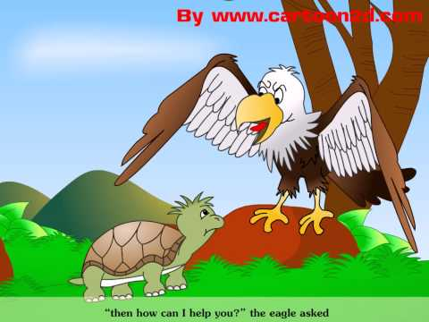 """นิทานอีสปภาษาอังกฤษ เรื่อง """"เต่ากับนกอินทรีย์"""" Turtles with eagle story"""