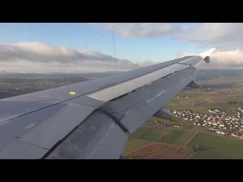 [4K] Swiss A319-112   Amsterdam to Zurich   Economy Class