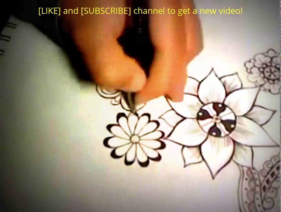 Decorative Flower Drawing