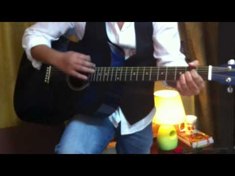 Rj Aftab on Guitar(Song- Chura Liya)