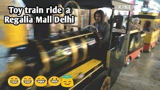 Toy train ride in delhi mall / Toy Train In Anand Vihar Mall / shipra mall