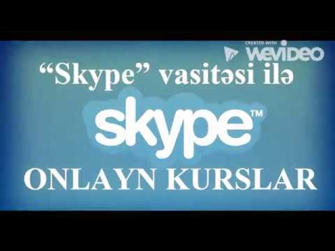 """""""Skype"""" Ilə Onlayn Kurslar – İlk Dərslər PULSUZ (Aylıq 48 AZN-dən) / Kurs.EduOnline.Az"""