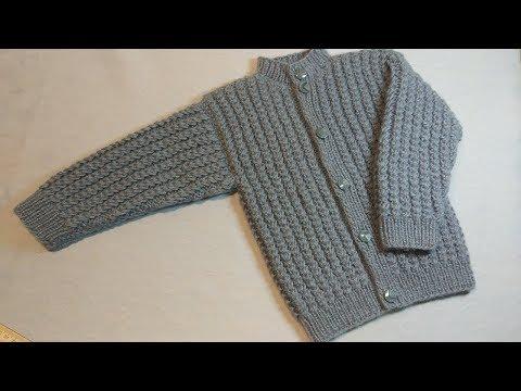 Вязание спицами кофты для мальчика 1 год видео