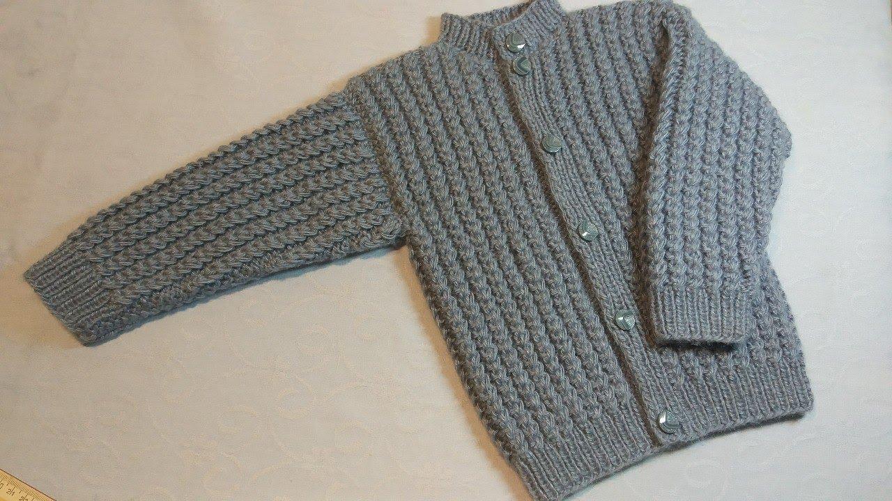 вязание спицами детская кофточка для мальчика218 Youtube