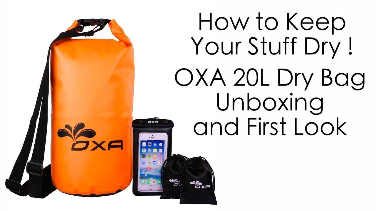 81a6651a4e84 How to Keep Your Stuff Dry - OXA Dry Bag Kit - YouTube