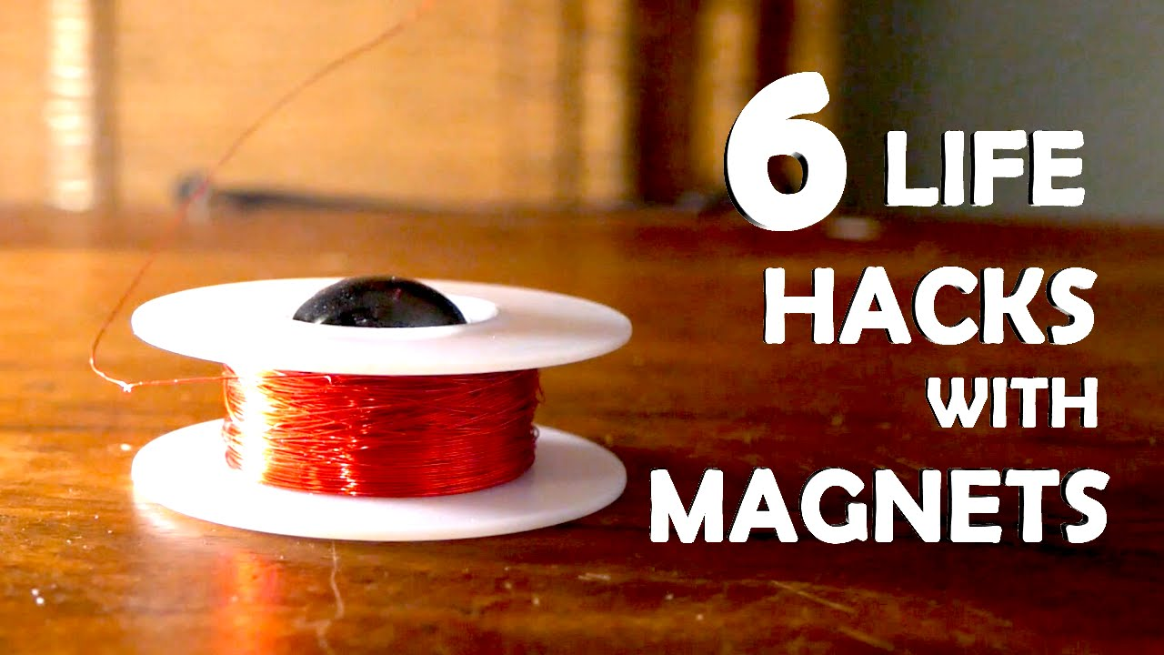 6 Amazing Life Hacks With Magnets!