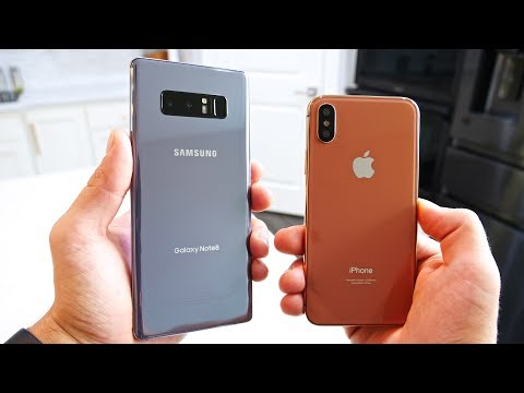 Samsung Galaxy Note 8 vs iPhone 8! Battle Of The Bezels