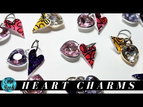 Shrink Film Heart Charms