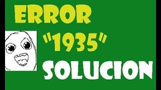 Error 1935 al intentar instalar Microsoft Office 2010 o 2007