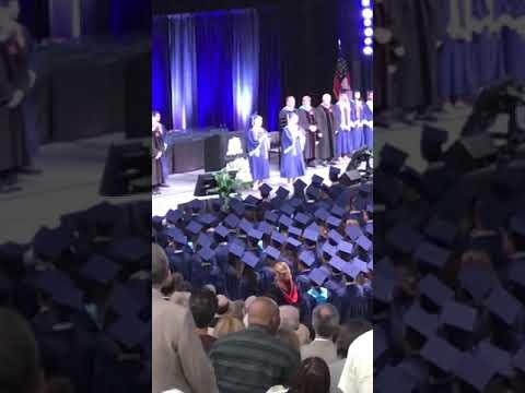 Twins Singing National Anthem Pope High School Graduation - Class of 2018