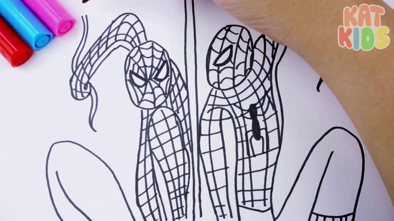 How To Draw And Coloring Spiderman