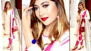 POHELA BOISHAKH MAKEUP TUTORIAL 2017 ll BENGALI NEW YEAR ll Sumayaa Meem