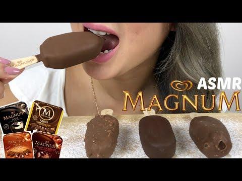 Mini MAGNUM ICE CREAM | ASMR *NO Talking Eating Sounds | N.E Let's Eat