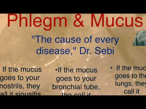 Dr sebi mucus is the cause of all disease