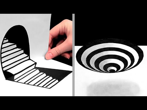 27 AMAZING DRAWING TIPS || ILLUSIONS, 3D DRAWINGS AND ONE-STROKE PAINTINGS