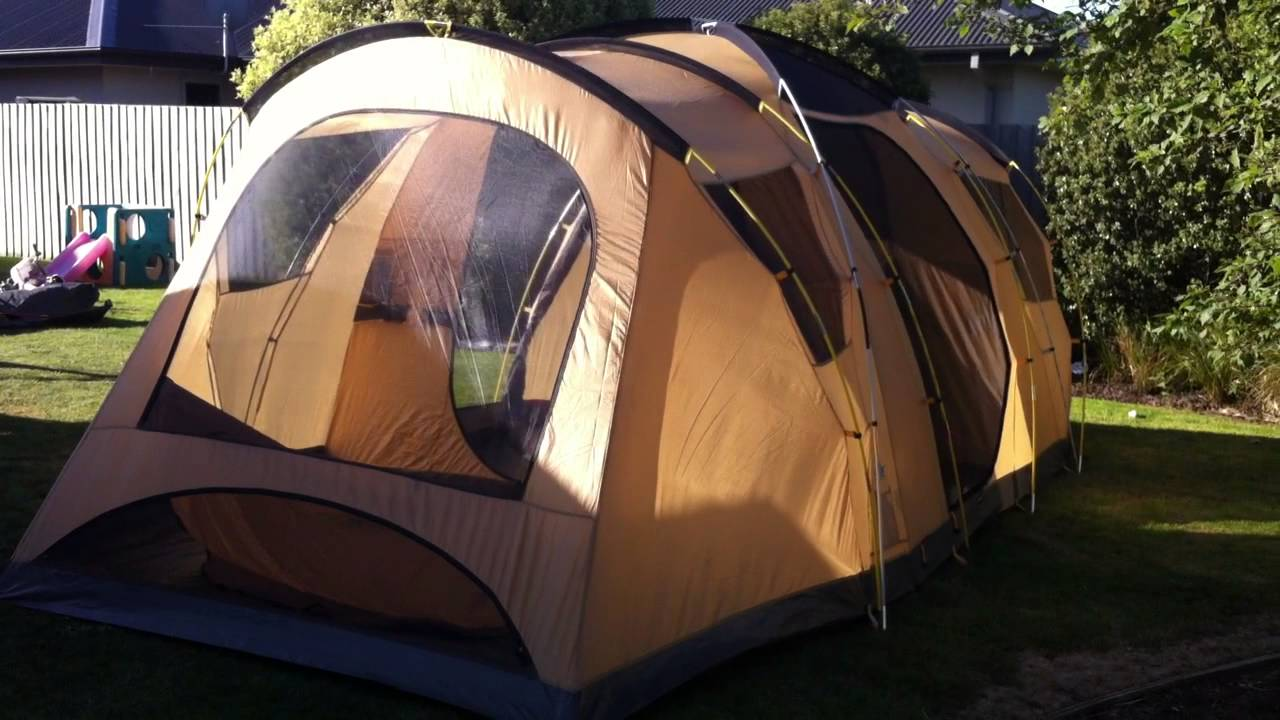 & Coleman 9XL CV family tent - YouTube