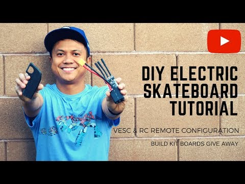 HOW TO BUILD A DIY ELECTRIC ⚡  SKATEBOARD TUTORIAL - VESC & RC REMOTE CONFIGURATION - PART 3