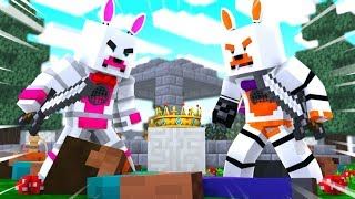 Lolbit and Funtime Foxy Are Kings Of The Hill (Minecraft Fnaf Roleplay Adventure)