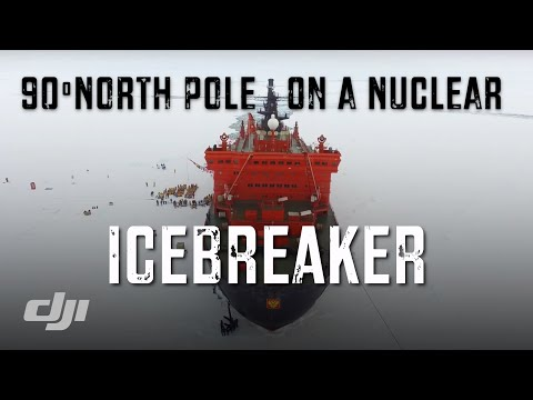 DRONE at NORTH POLE on WORLDS LARGEST ICEBREAKER / Quark Expeditions / DJI