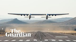 Stratolaunch: plane with world's longest wingspan takes off and successfully lands