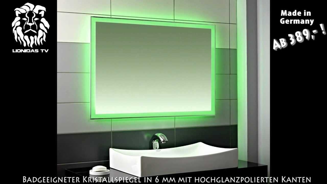 led wandspiegel mit farbwechsel fantasia youtube. Black Bedroom Furniture Sets. Home Design Ideas