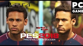 PES 2018 - PC ULTRA vs PS4 FACES / GRÁFICOS COMPARAÇÃO
