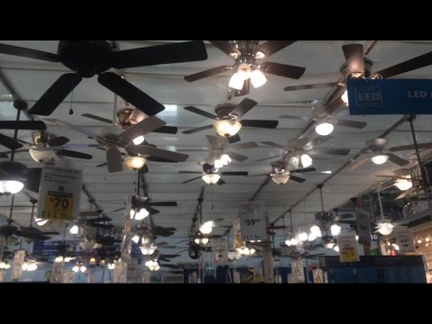 Ceiling Fans On Display At Lowes In Davers Ma 2015 Youtube