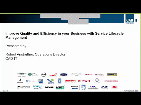 Improve Quality and Efficiency in your Business with Service Lifecycle Management