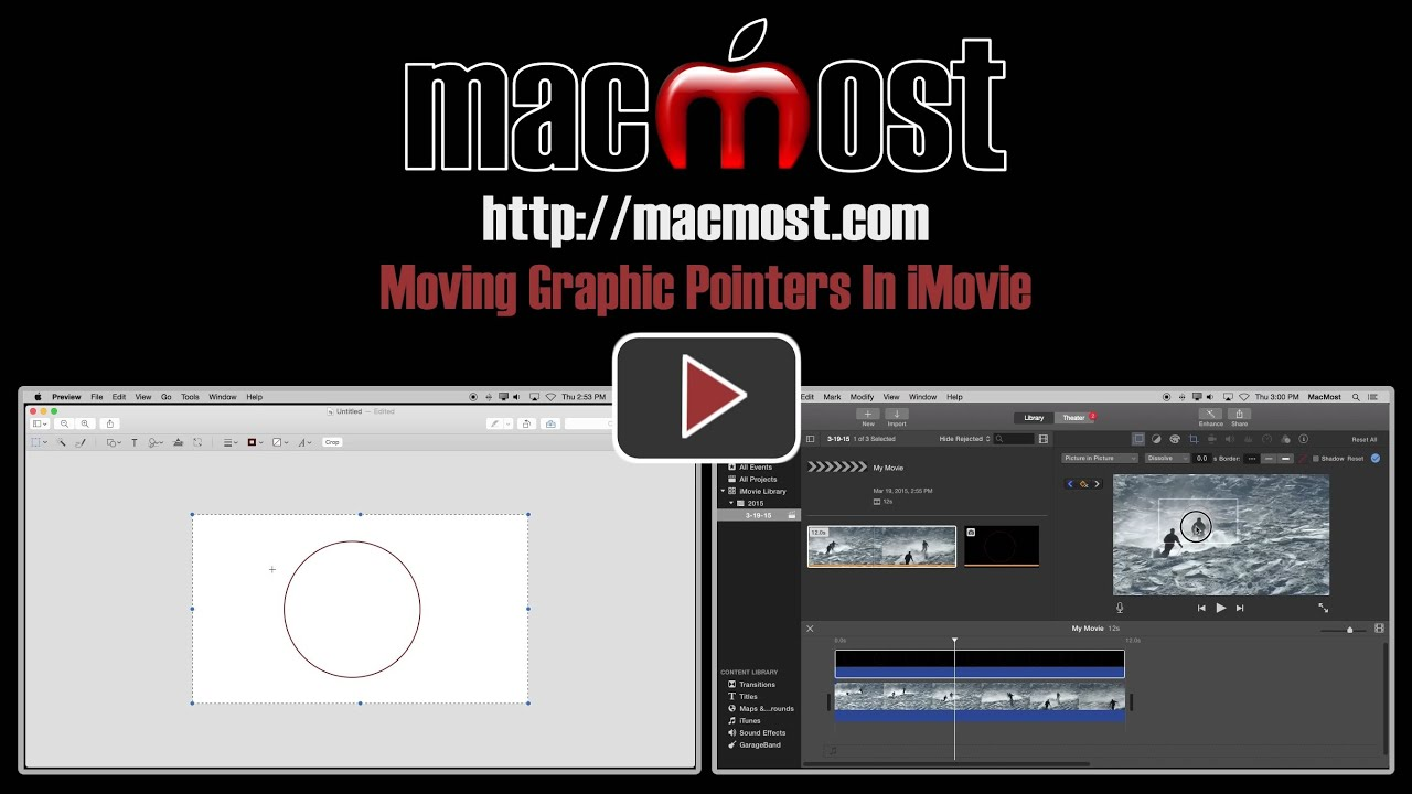 Moving Graphic Pointers In iMovie