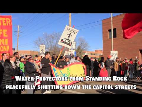 Standing Rock Converges on Bismarck---11/14/2016