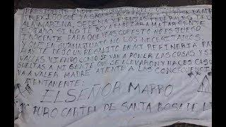 PRESUNTO SEÑOR MARRO DICE QUE ELLOS NO AMENAZARON A AMLO. EL CARTEL A FAVOR DE 4ta TRANSFORMACIÓN
