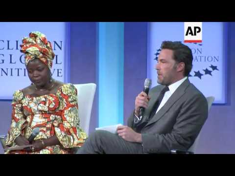 Ben Affleck talks about his advocacy in Congo at Clinton Global Initiative