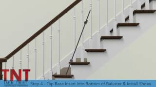 tap n twist tread rail installation