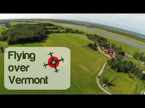 Aerial View of Lake Champlain, Vermont by Drone (#Aerial)
