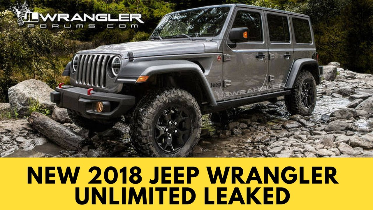 2018 jeep unlimited wrangler. fine unlimited new 2018 jeep wrangler unlimited leaked with jeep unlimited wrangler