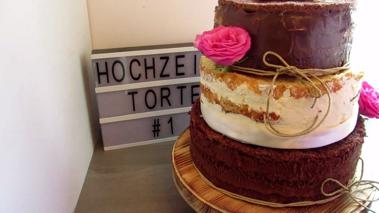 Hochzeitstorte 1 Dreistockige Torte Ohne Fondant Naked Cake
