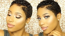 How To Define Curls for Short Natural Hair | TWA